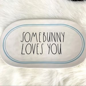Rae Dunn Some Bunny Love You Platter Serving